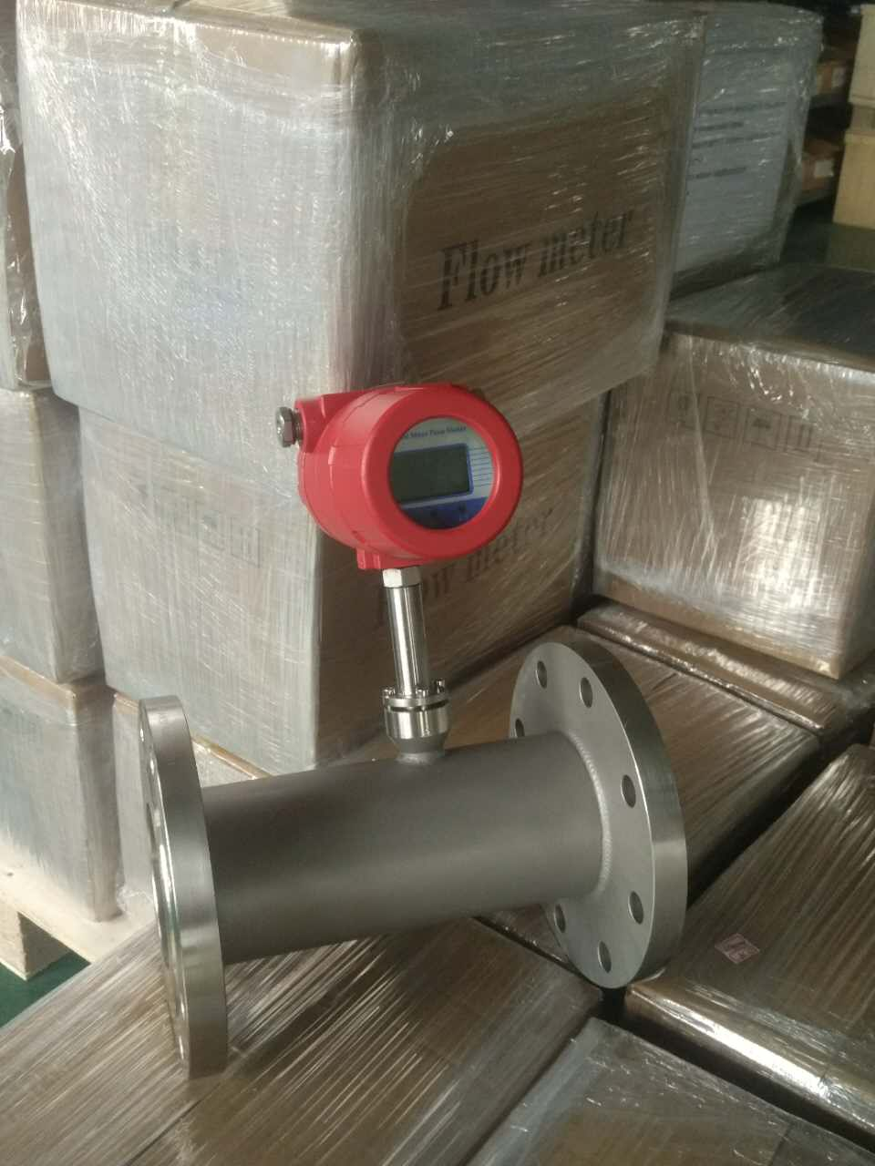 Flange type thermal madd gas flow meter